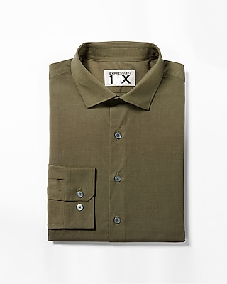 Express Mens Classic Fit Easy Care End-On-End 1Mx Shirt