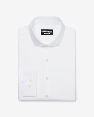 Express Mens Classic Stretch Cotton Spread Collar 1Mx Dress Shirt