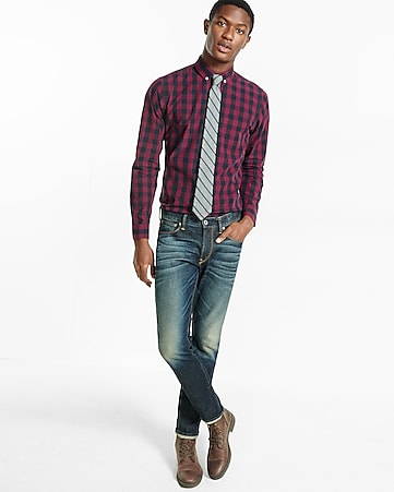 soft wash buffalo check shirt
