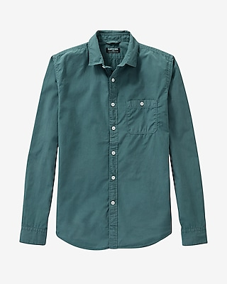 Express Mens Garment Dyed Poplin Shirt