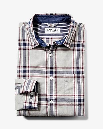 soft wash plaid shirt