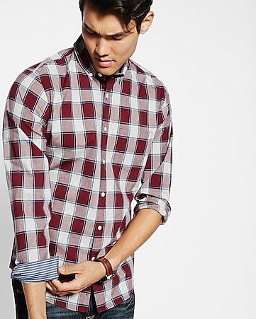 micro plaid shirt