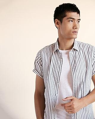 Express Mens Striped Soft Wash Shirt