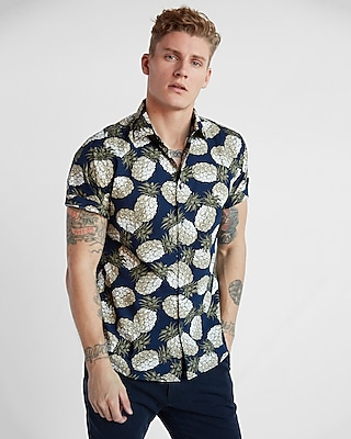 Express Mens Soft Wash Pineapple Shirt