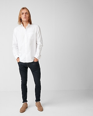 Express Mens Soft Wash Classic Fit Cotton Oxford Shirt