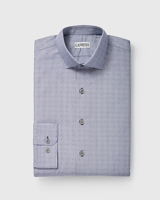 Express Mens Extra Slim Fit Dot Check Dress Shirt