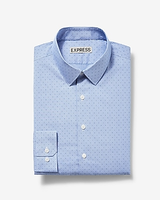 Express Mens Slim Micro Dot Print Dress Shirt