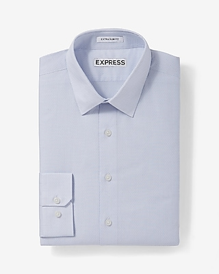 Express Mens Slim Fit Dobby Dress Shirt
