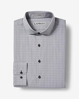Express Mens Slim Fit Dobby Check Dress Shirt
