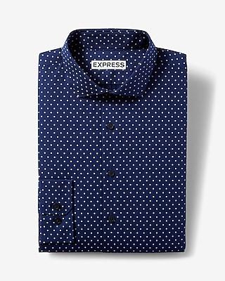 Express Mens Classic Fit Micro Dot Dress Shirt