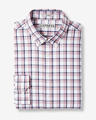 Fitted Plaid Performance Shirt