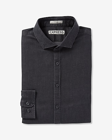 fitted chambray dress shirt