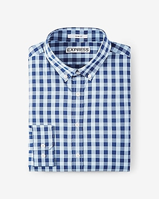 Slim Fit Check Performance Shirt