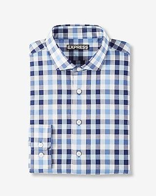 Modern Fit Plaid Cotton Dress Shirt