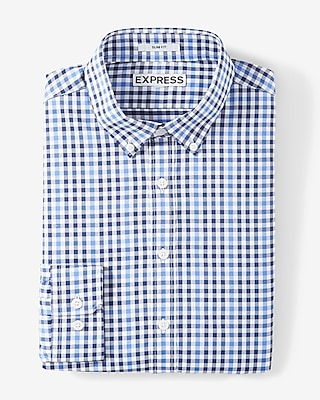 Slim Fit Plaid Performance Shirt