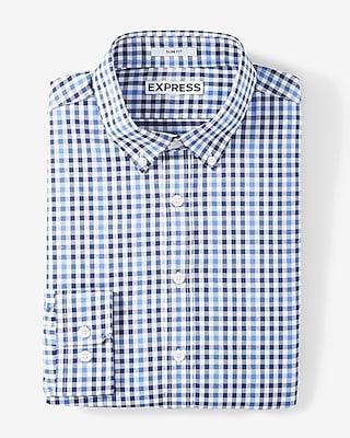 Slim Fit Plaid Performance Shirt