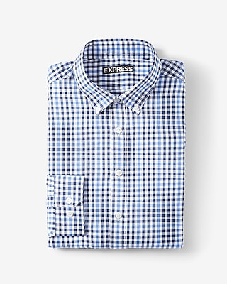 Modern Fit Plaid Performance Shirt