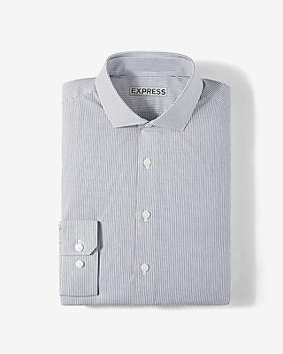 Express Mens Slim Vertical Stripe Cotton Dress Shirt