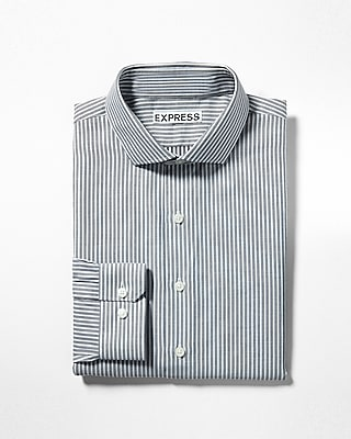 Express Mens Extra Slim Fit Striped Dress Shirt