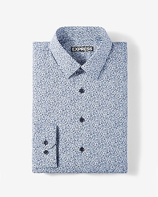 Express Mens Classic Fit Floral Cotton Dress Shirt