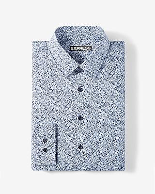 Express Mens Classic Fit Floral Cotton Dress Shirt