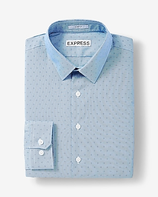 Express Mens Extra Slim Fit Diamond Dress Shirt