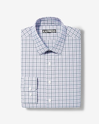 Express Mens Classic Plaid Dress Shirt