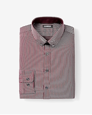 Express Mens Extra Slim Fit Striped Performance Dress Shirt