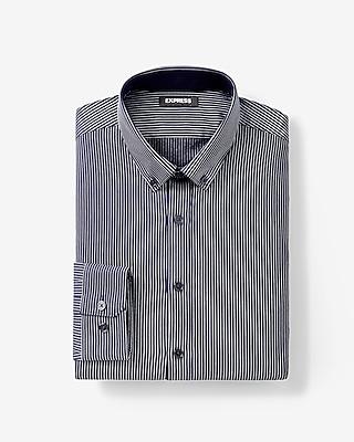 Express Mens Extra Slim Fit Striped Performance Dress Shirt