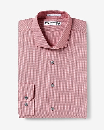 slim fit jacquard dress shirt