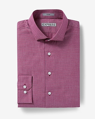 fitted jacquard dress shirt