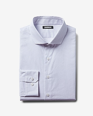 Express Mens Extra Slim Pattern Dress Shirt
