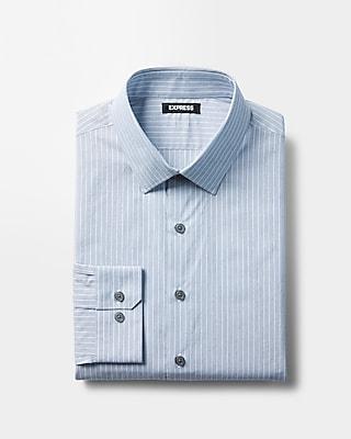 Express Mens Slim Stripe Pattern Dress Shirt