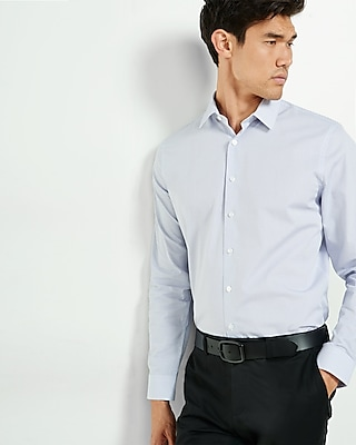 Express Mens Fitted Printed Cotton Shirt