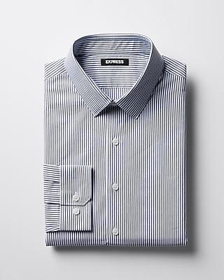 Express Mens Slim Striped Point Collar Dress Shirt