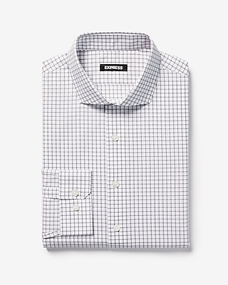 Express Mens Classic Check Print Dress Shirt