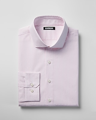 Express Mens Classic Striped Spread Collar Dress Shirt