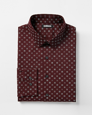 Express Mens Slim Fit Micro Dot Dress Shirt