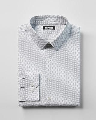 Express Mens Extra Slim Fit Geo Print Dress Shirt