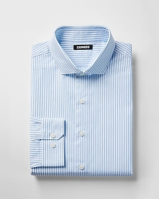 Express Mens Classic Fit Striped Dress Shirt
