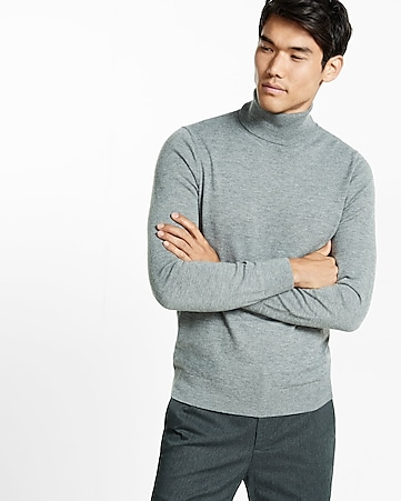 merino wool blend turtleneck sweater