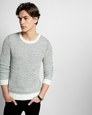 Express Mens Tape Yarn Crew Neck Sweater