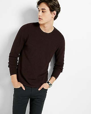 Express Mens Tipped Crew Neck Sweater Red Medium 10234419