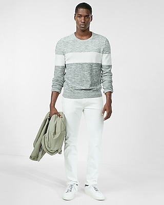 Express Mens Ombre Crew Neck Sweater