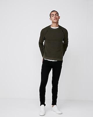 Express Mens Textured Reversible Sweater