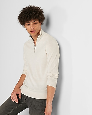 Express Mens Big & Tall Merino Wool Blend Thermal Regulating Mock Neck Sweater White Men's Xxl White Xxl