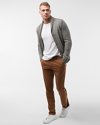 Express Mens Shawl Neck Cardigan
