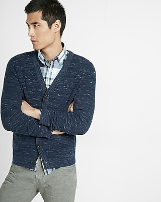 Express Mens V-Neck Cardigan