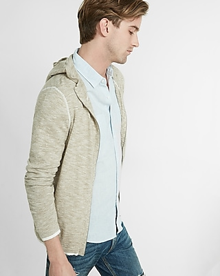 Express Mens Full Zip Hooded Sweater