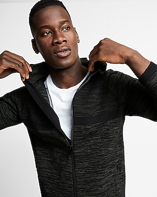 Express Mens Zip Front Athletic Hoodie 01804895